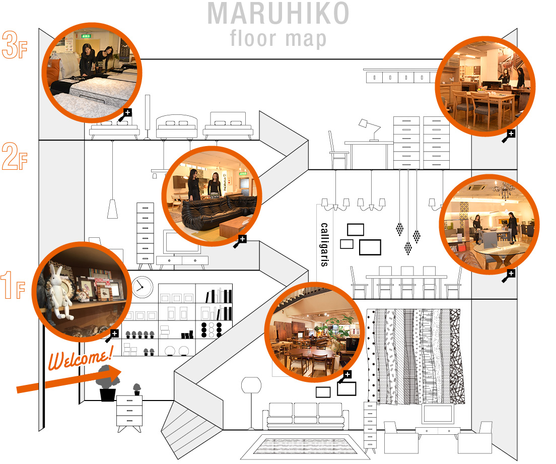 MARUHIKO floor map
